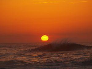 fotos puesta de sol en el mar