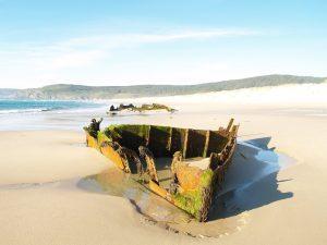casanosa restos del naufragio del barco portugués Silva Gouveia