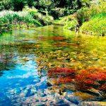 Cauce del río Lires que pasa al lado de la casanosa