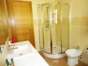 limpieza en cabina de ducha