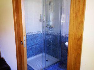 ducha vista desde habitación