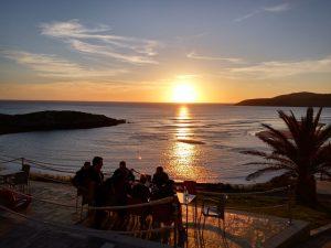 puesta de sol en la playa de Lires, cerca de casanosa