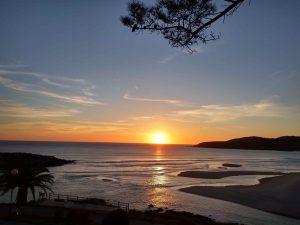 fotos puesta de sol en Lires, junto a la casa rural